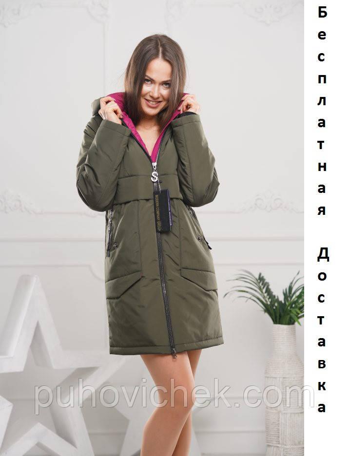 Удлиненная женская куртка демисезонная