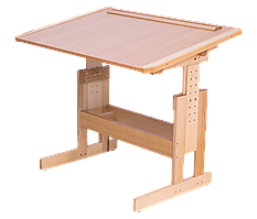 Стол Парта Розумник деревянная растущая для школьников. РК3