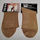Носки женские капроновые с узором и пяткой, фото 2