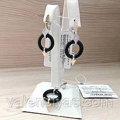 Комплект серебряных украшений -  серьги и подвеска