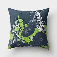 Подушка декоративная Темные цветы 45 х 45 см Berni