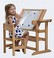 Стол Парта с мольбертом Смарт универсальная деревянная для детей. РК2