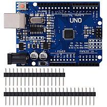 Контроллер модуль Arduino Uno R3 MEGA328P CH340G, фото 2