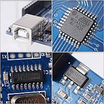Контроллер модуль Arduino Uno R3 MEGA328P CH340G, фото 3