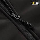 M-Tac куртка Soft Shell з підстібкою Black софтшел зимова чорна, фото 9