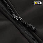 M-Tac куртка Soft Shell с подстежкой Black софтшел черная зимняя, фото 9
