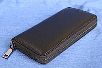 Клатч кошелек черный кожаный, фото 1