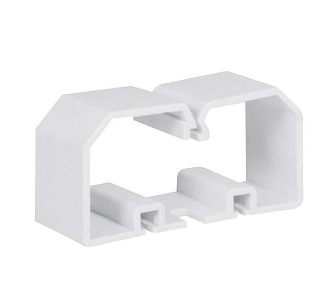 Держатель проводов 120x60 белый Elettrocanali ECCO12060 для пластикового короба (кабель-канала)