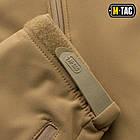 M-Tac куртка Soft Shell з підстібкою Tan зимова, фото 10