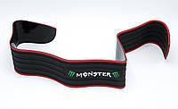 Универсальная защитная накладка на задний бампер MONSTER / черный