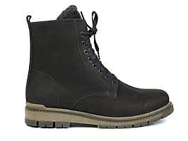Демисезонные ботинки мужские берцы замшевые на флисе коричневые Rosso Avangard Doks Brown Diamond