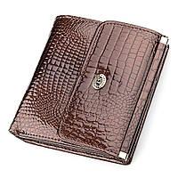 Кошелек женский ST Leather 18354 (S1101A) лакированная кожа Коричневый, фото 1
