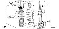 Пыльник амортизатора (лев) CR-V
