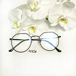 Іміджеві окуляри в чорній оправі, фото 4