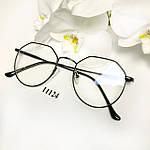Іміджеві окуляри в чорній оправі, фото 5