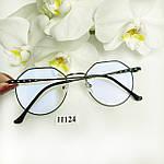 Іміджеві окуляри в чорній оправі, фото 6