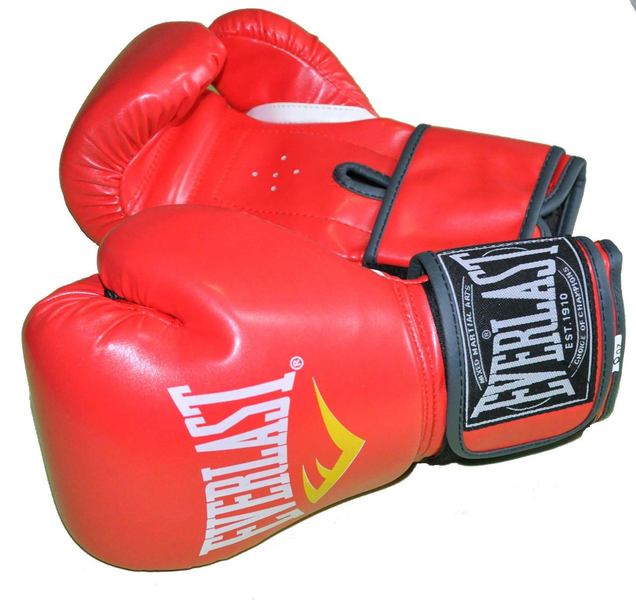 Детские боксерские перчатки в стиле EVERLAST BO-3987-8RD   размер 8 унц.