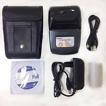 Термопринтер чековый мобильный принтер для чеков с Bluetooth Goojprt PT-210, фото 2