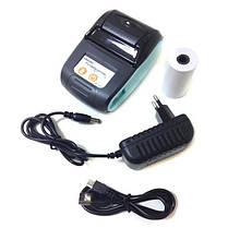 Термопринтер чековый мобильный принтер для чеков с Bluetooth Goojprt PT-210, фото 3