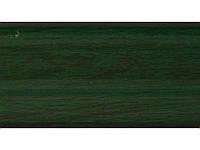 Плинтус с кабель каналом и мягким краем BS14 Зелёный