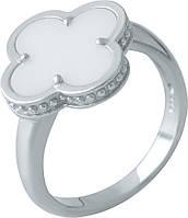 Серебряное кольцо SilverBreeze с керамикой (1998052) 17.5 размер