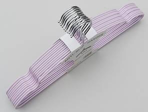 Плечики металлические в силиконовом покрытии нежно-сиреневого цвета, 40 см,10 штук в упаковке