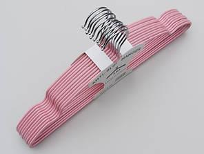 Плечики металлические в силиконовом покрытии нежно-розового цвета, 40 см,10 штук в упаковке