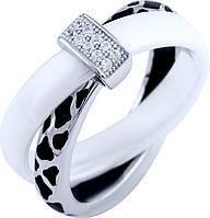 Серебряное кольцо SilverBreeze с керамикой, емаллю (1885871) 16.5 размер