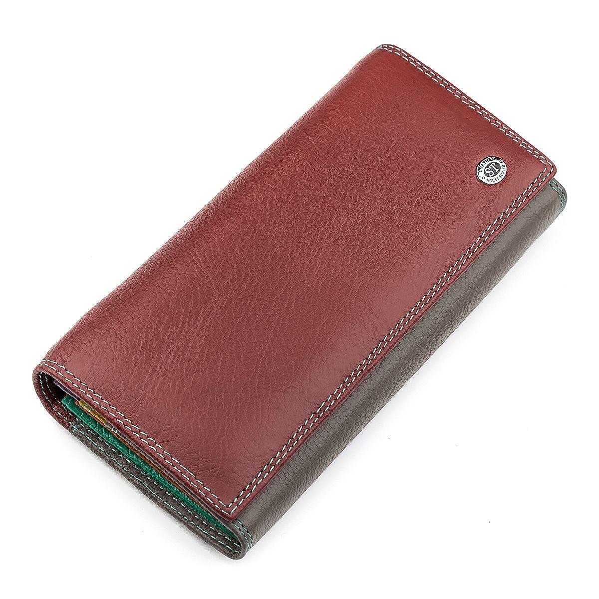 Кошелек женский ST Leather 18387 (SB237) очень красивый Бордовый