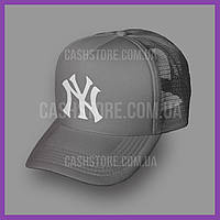 Кепка Тракер New York Yankees 'Jersey Trucker' | Серая