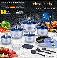 Набор посуды Master Chef 19 предметов сковорода керамическое покрытие