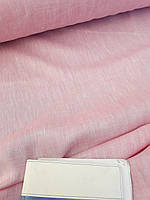 Льняная меланжевая ткань розового цвета, фото 1