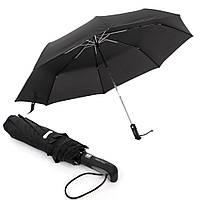 Фирменный зонт мужской Parachase с большим куполом 122 см, автомат, антиветер, черный