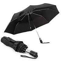 Мужской складной зонт Parachase полный автомат, антиветер, черный