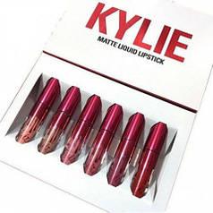 Набор матовых жидких помад 6-в-1 Kylie 8626 Limited Edition