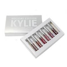 Набор матовых жидких помад 6-в-1 Kylie 8613 Holiday Edition