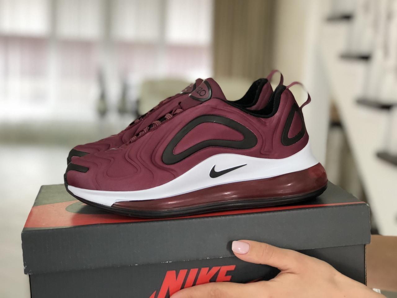 Модные женские кроссовки Nike Air Max 720,бордовые