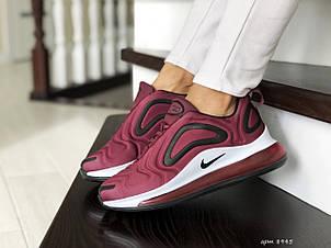 Модные женские кроссовки Nike Air Max 720,бордовые, фото 2