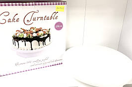 Тортівниця Benson BN-925 кругла 28 см біла