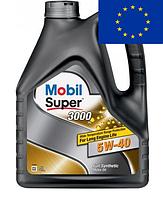 Масло моторное синтетическое Mobil Super 3000 5w-40 4 литра Мобил супер