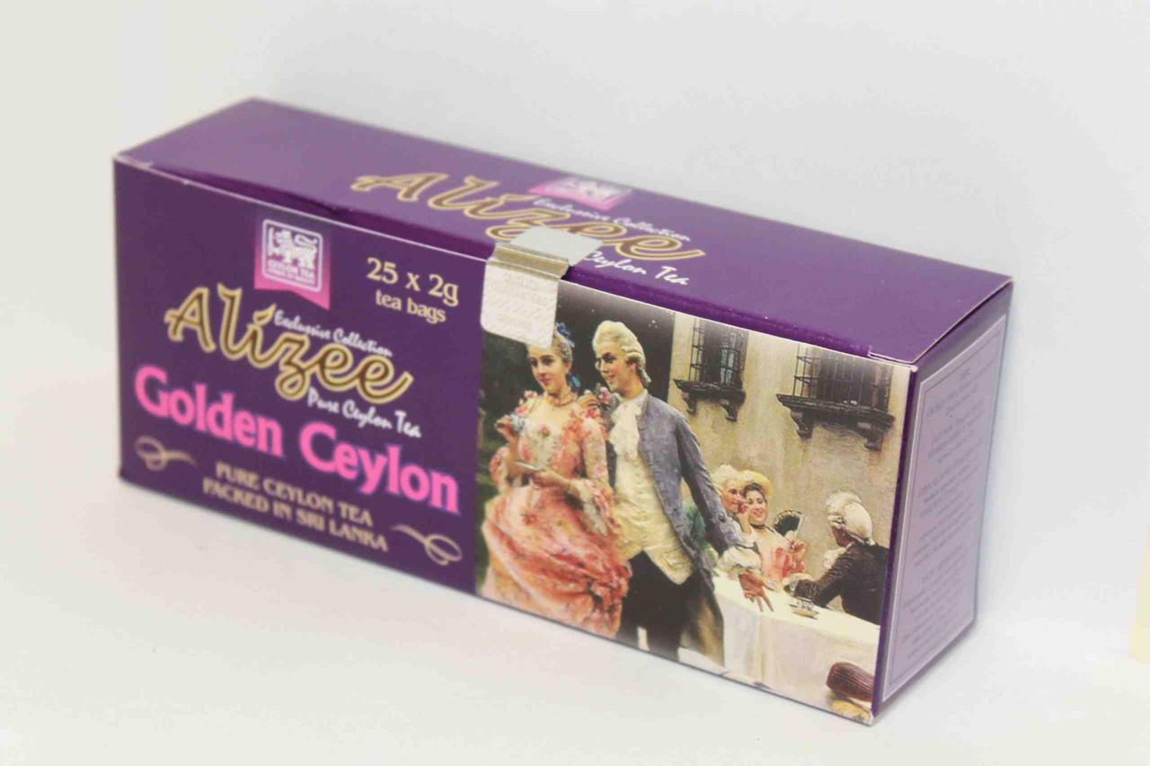 Черный чай в пакетиках Ализе Голден Цейлон 25*2 г