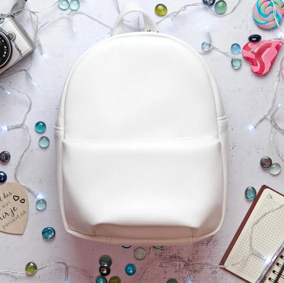 Женский рюкзак SamBag белый искусственная кожа разные размеры 11321008