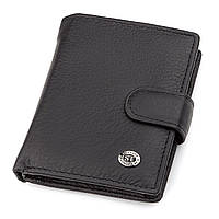 Мужской кошелек ST Leather 18495 (ST131) вертикальный Черный