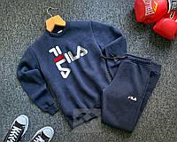 Мужской зимний спортивный костюм в стиле Fila