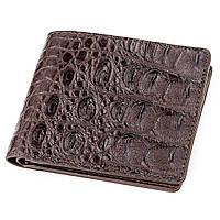 Бумажник мужской CROCODILE LEATHER 18289 из натуральной кожи крокодила Коричневый, фото 1