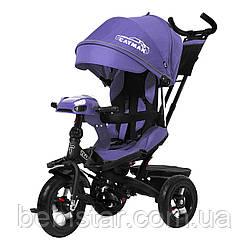 Трехколесный велосипед TILLY CAYMAN фиолетовый лен усиленная рама поворот сидения надувные колес музыка и свет