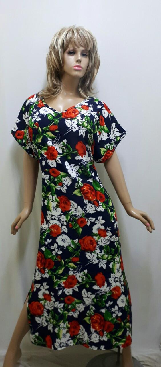 Платье-кимоно штапельное 518