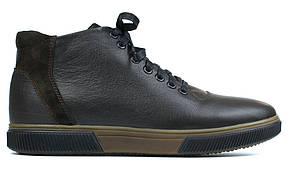 Демисезонные полуботинки коричневые кожаная мужская обувь на флисе Rosso Avangard North Lion 01-127