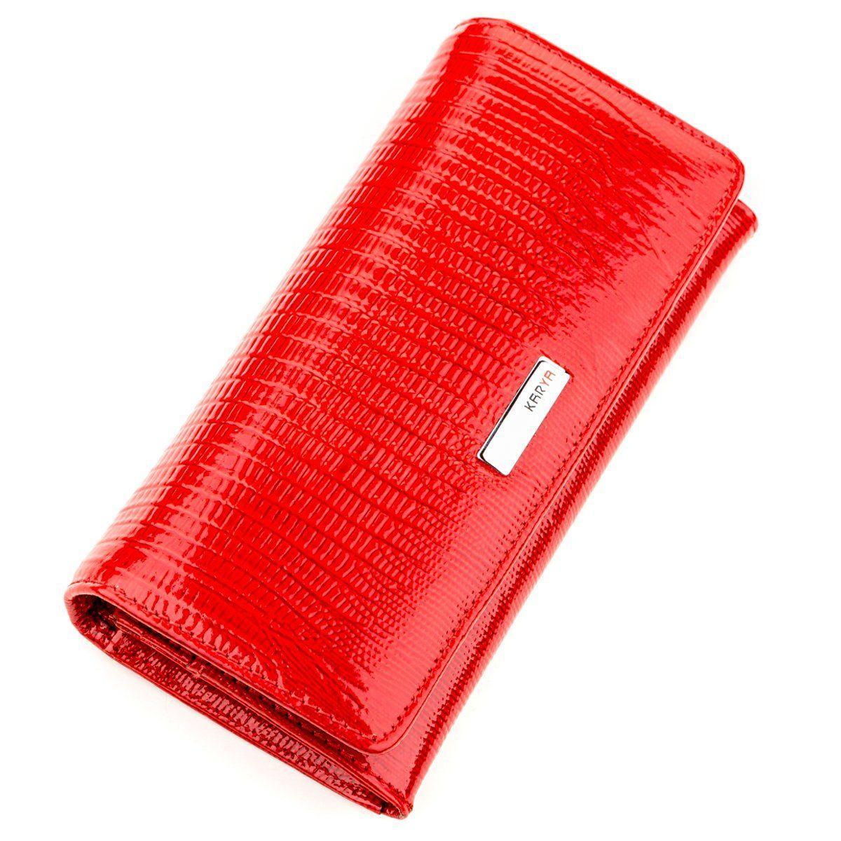Кошелек женский KARYA 17262 кожаный Красный