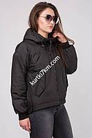 Короткая молодежная  куртка с капюшоном Damader 11043, фото 1